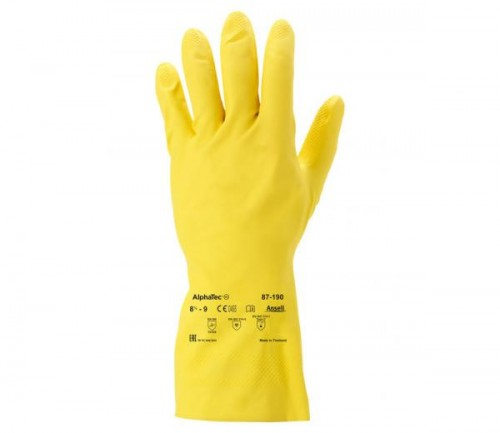 Ansell- - Ansell- ALPHATEC® 87-190 Kimyasal ve Sıvı Korumalı İş Eldiveni (Çift-8)
