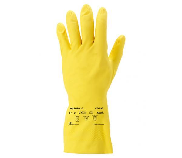 Ansell- ALPHATEC® 87-190 Kimyasal ve Sıvı Korumalı İş Eldiveni (Çift-10)