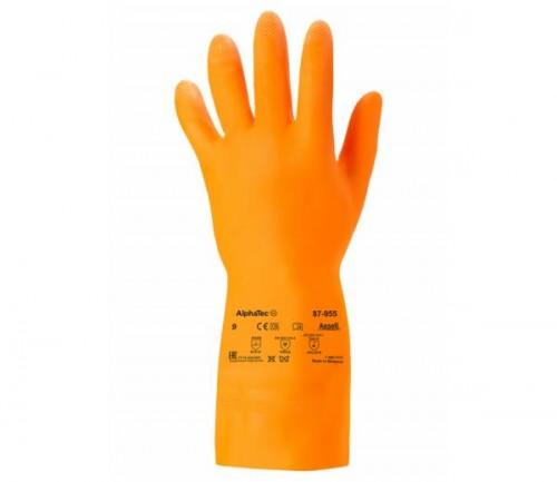 Ansell- - Ansell- EXTRA® 87-955 ORANGE Kimyasal ve Sıvı Korumalı Ağır İş Eldiveni (Çift-9)