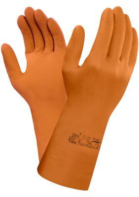 Ansell- EXTRA® 87-955 ORANGE Kimyasal ve Sıvı Korumalı Ağır İş Eldiveni (Çift-9)