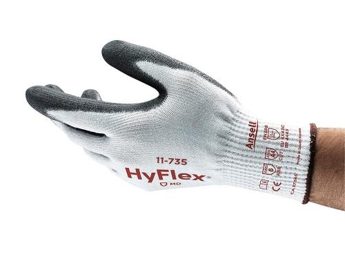 Ansell- HYFLEX® 11-735 Kesilmeye Karşı Mekanik Korumalı İş Eldiveni (Çift-10) - Thumbnail