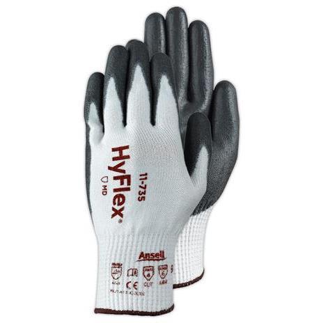 Ansell- HYFLEX® 11-735 Kesilmeye Karşı Mekanik Korumalı İş Eldiveni (Çift-10)