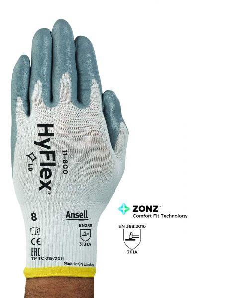 Ansell- HYFLEX® 11-800 Mekanik ve Çok Amaçlı Antistatik Montaj Eldiveni (Çift-10)