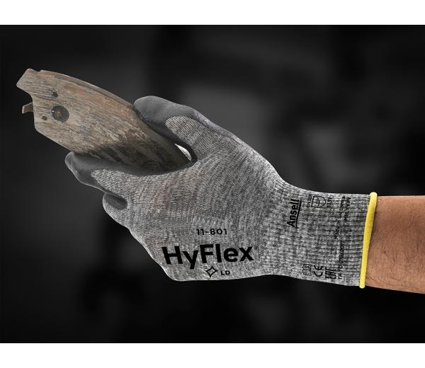Ansell- HYFLEX® 11-801 Köpük Nitril Mekanik ve Çok Amaçlı Montaj Eldiveni (Çift-9)