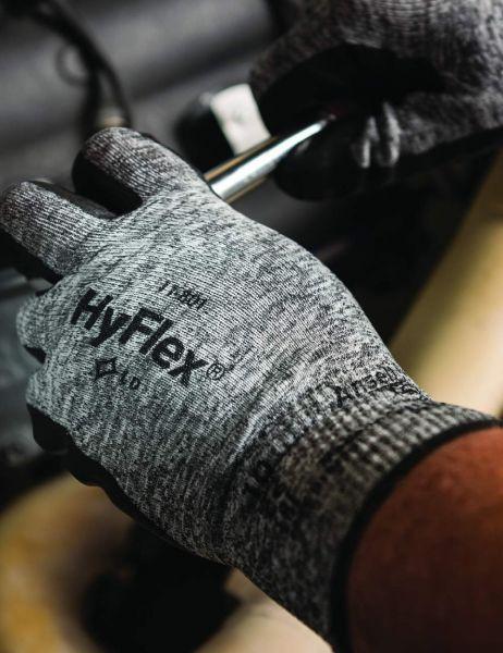 Ansell- HYFLEX® 11-801 Köpük Nitril Mekanik ve Çok Amaçlı Montaj Eldiveni (Çift-11)