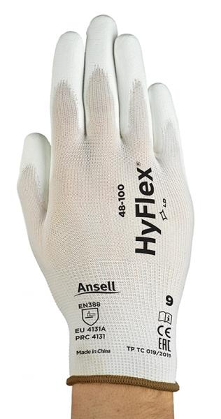 Ansell- HYFLEX® 48-100 BEYAZ TAM KAPLI Sensilite Poliüretan Kaplı Hassas İş Eldiveni