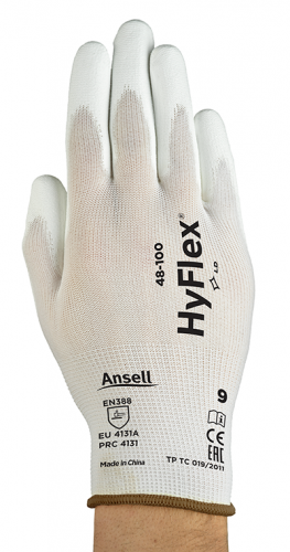 Ansell- - Ansell- HYFLEX® 48-100 BEYAZ TAM KAPLI Sensilite Poliüretan Kaplı Hassas İş Eldiveni