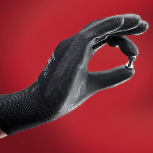 Ansell- HYFLEX® 48-101 Siyah-Gri Tam Kaplı Sensilite Poliüretan Kaplı Hassas İş Eldiveni (Çift-9) - Thumbnail