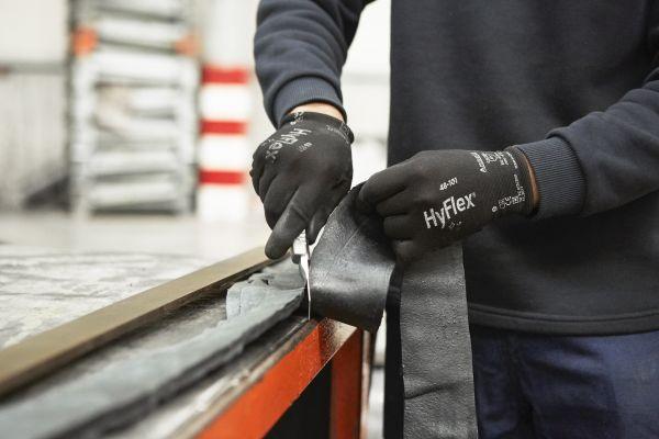 Ansell- HYFLEX® 48-101 Siyah-Gri Tam Kaplı Sensilite Poliüretan Kaplı Hassas İş Eldiveni (Çift-9)