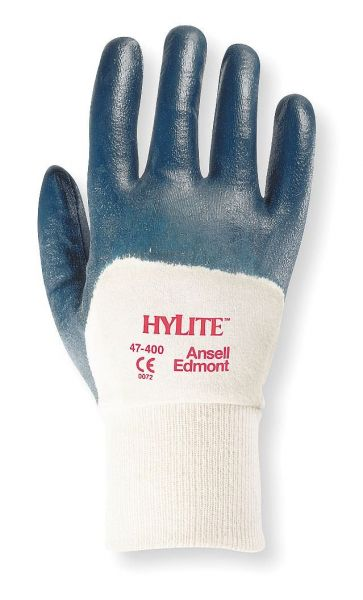 Ansell- HYLITE® 47-400 Nitril Kaplı Atık Toplama ve Montaj Eldiveni (Çift-7)