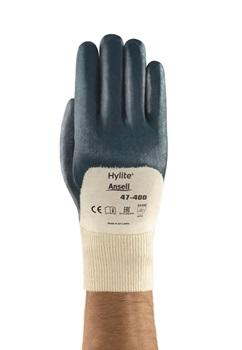 Ansell- HYLITE® 47-400 Nitril Kaplı Atık Toplama ve Montaj Eldiveni (Çift-9)