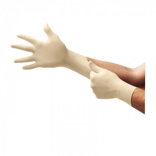 Ansell- Microflex® 63-864 Doğal Kauçuk Lateks Kimyasal ve Sıvı Koruyucu Eldiven (S) 100lü Paket - Thumbnail