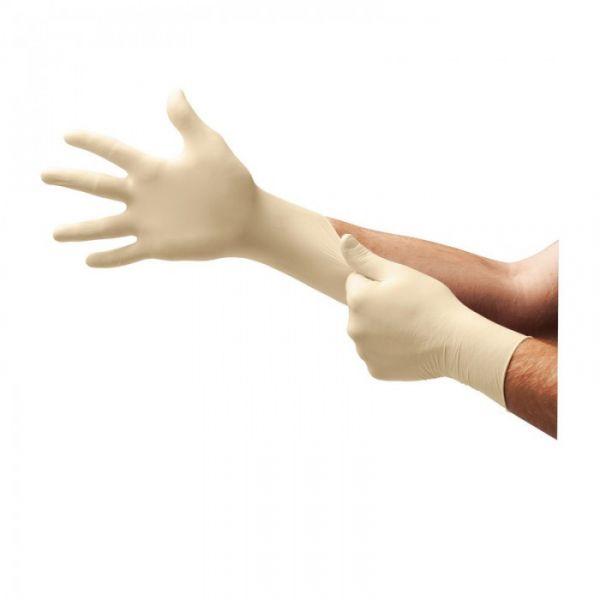 Ansell- Microflex® 63-864 Doğal Kauçuk Lateks Kimyasal ve Sıvı Koruyucu Eldiven (M) 100lü Paket
