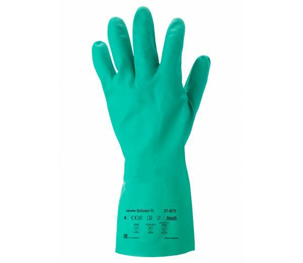 Ansell- SOLVEX® 37-675 Kimyasal ve Sıvı Korumalı Antistatik İş Eldiveni (Çift-7)