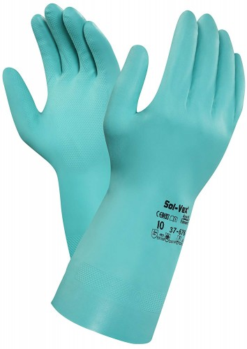 Ansell- - Ansell- SOLVEX® 37-676 Kimyasal ve Sıvı Korumalı Antistatik İş Eldiveni (Çift-10)
