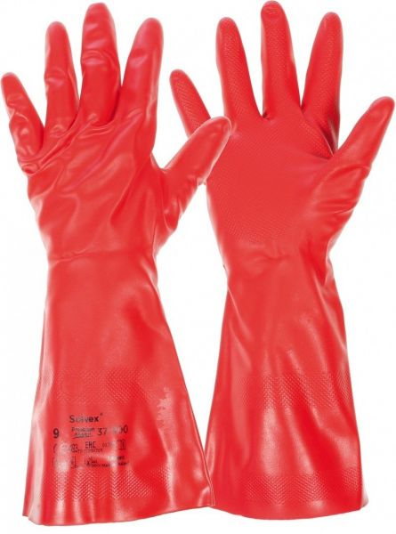 Ansell- SOLVEX® PREMIUM 37-900 Kimyasal ve Asit Eldiveni (Çift-10)