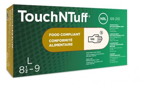 Ansell- TouchNTuff® 69-210 Lateks İş Eldiveni (M) 100lü Paket - Thumbnail