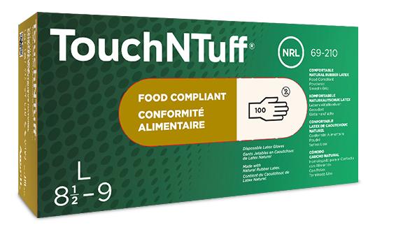 Ansell- TouchNTuff® 69-210 Lateks İş Eldiveni (M) 100lü Paket