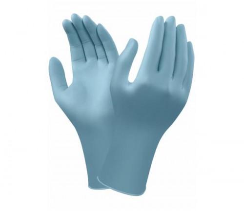 Ansell- TouchNTuff® 92-670 Tek Kullanımlık Pudrasız Endüstriyel Ağır İş Eldiveni (S) 100lü Paket - Thumbnail