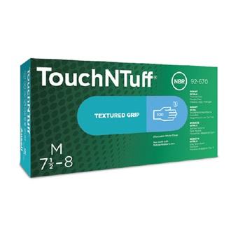 Ansell- TouchNTuff® 92-670 Tek Kullanımlık Pudrasız Endüstriyel Ağır İş Eldiveni (M) 100lü Paket