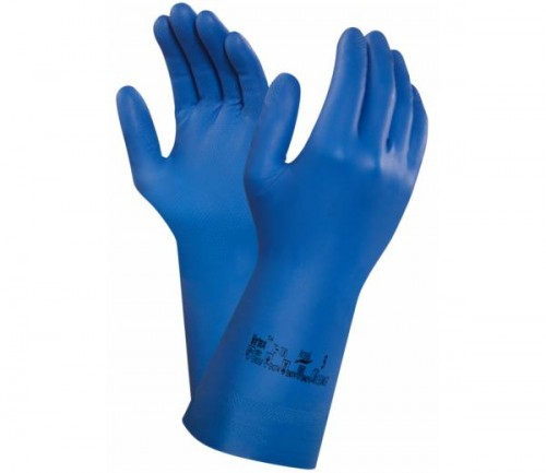 Ansell- - Ansell- VIRTEX® 79-700 Mavi Nitril Kimyasal ve Sıvı Korumalı İş Eldiveni (Çift-9)