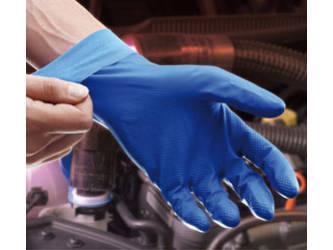 Ansell- VIRTEX® 79-700 Mavi Nitril Kimyasal ve Sıvı Korumalı İş Eldiveni (Çift-9)