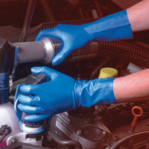 Ansell- VIRTEX® 79-700 Mavi Nitril Kimyasal ve Sıvı Korumalı İş Eldiveni