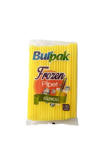 Burpak Frozen Pipet Sarı 22cm 100lü