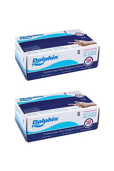 Dolphin Mavi Lateks Eldiven Pudralı (S) 100lü Paket 2 Adet