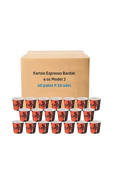 Roll-Up Karton Bardak 4 oz Kırmızı Siyah 2000 Adet