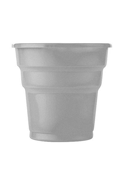 Roll-Up Plastik Meşrubat Bardağı Gümüş 180cc-7oz 25li