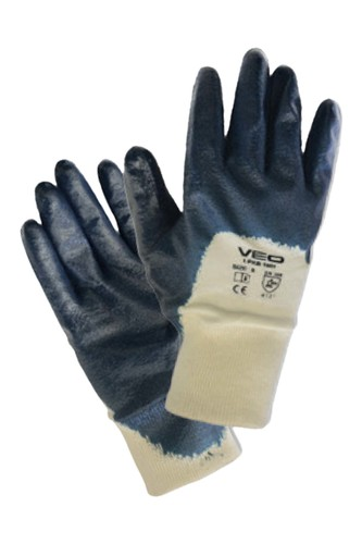 Kullan At Market - Veo 1001/10 Nitril Eldiven Yarım Kaplı Mavi Çift (Beden-8)