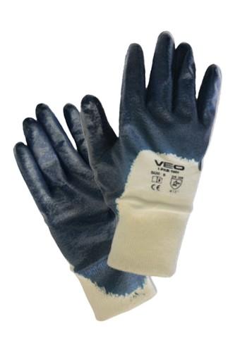 Kullan At Market - Veo 1001/10 Nitril Eldiven Yarım Kaplı Mavi Çift (Beden-9)