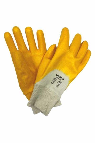 Veo 3002/10 Sarı Nitril Genel Kullanım İş Eldiveni 1 Çift (Beden-9)